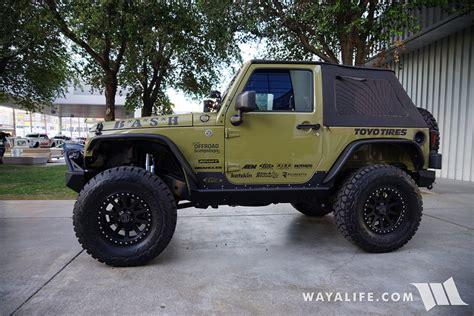 commando green jeep lifted 2015 sema commando green bash jeep jk wrangler 2 door