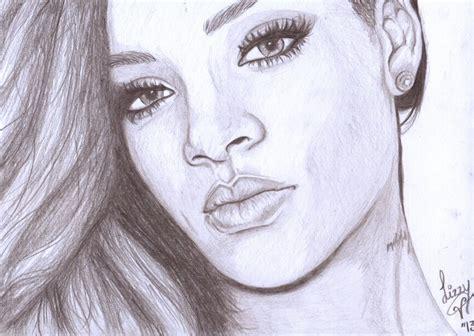My Rihanna Drawing  Desenhos  Pinterest
