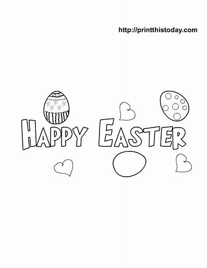 Easter Coloring Printable Pages Happy Banner Printables