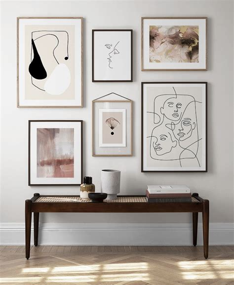 picture wall inspiration stylish gallery walls at desenio co uk