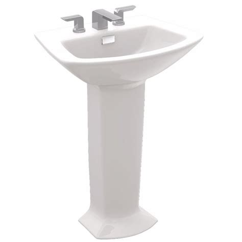 toto pedestal sink home depot toto soiree 30 in pedestal combo bathroom sink with 8 in