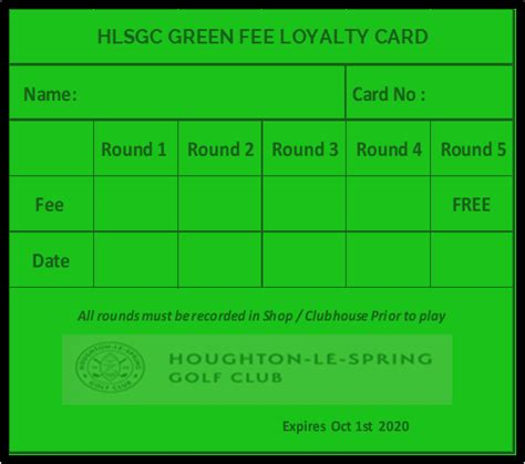 Though immigration applicants have been paying application fees for more than a century, a look at. Visitors Green Fee Loyalty Card Offer - Houghton-Le-Spring Golf Club