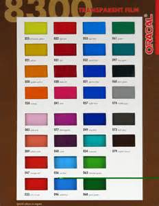 Oracal Vinyl Color Chart