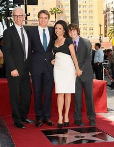 Julia Louis-Dreyfus with husband Brad Hall and their sons ...