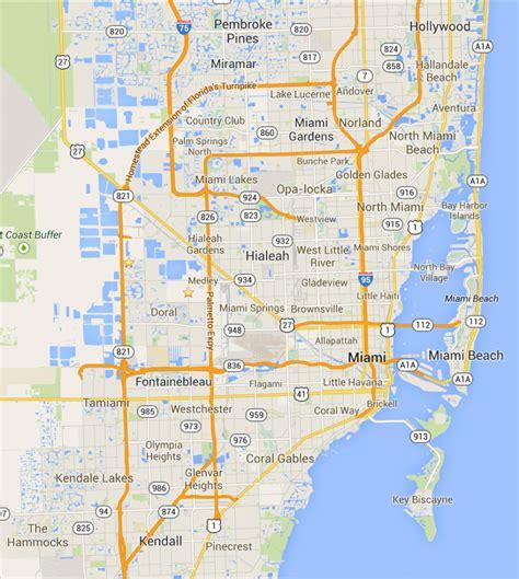 Mapa de Miami - TurismoEEUU