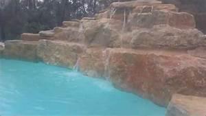 Piscine A Débordement : piscine d bordement et cascade avec enduit silico ~ Farleysfitness.com Idées de Décoration