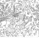 Farm Colouring Poster Posters Giant Coloring Really Find Notonthehighstreet Children Seaside Line sketch template