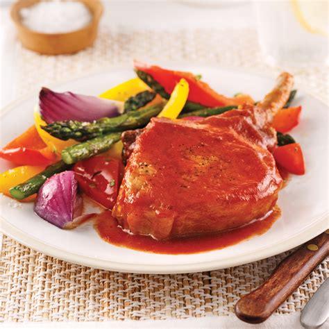 cuisine porc côtelettes de porc barbecue et érable recettes cuisine