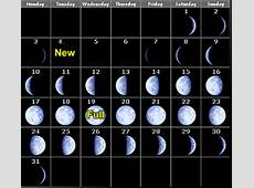 Phases of the Moon Calendar 2010 month by month
