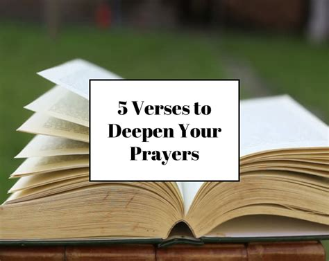 5 Verses To Deepen Your Prayers According To Tish