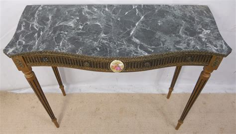 fake marble table tops gilt framed faux marble top console table