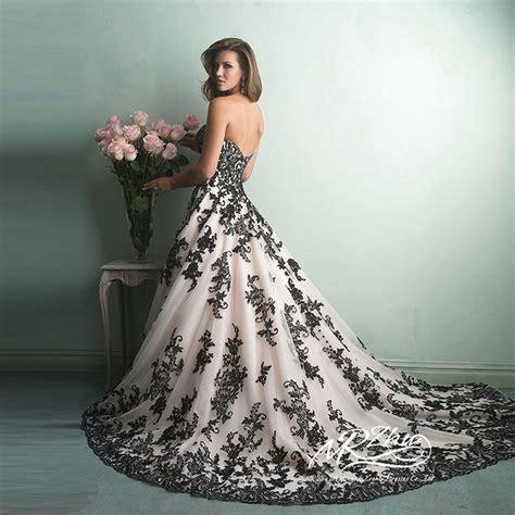 aliexpress buy vestido de noiva sweetheart white and black wedding dress gown wedding
