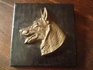 Bild Auf Holz : deutscher sch ferhund bronze plakette auf holz bild antike troph e hundekopf kaufen bei sphinx ~ Frokenaadalensverden.com Haus und Dekorationen