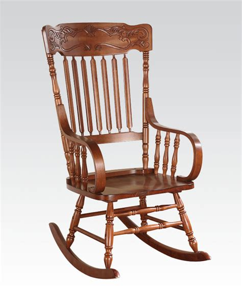 rocking chair in tobacco by acme furniture ac59210
