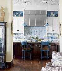 blue and white kitchen {For the Love of Kitchens} Blue & White Kitchen - The Inspired Room