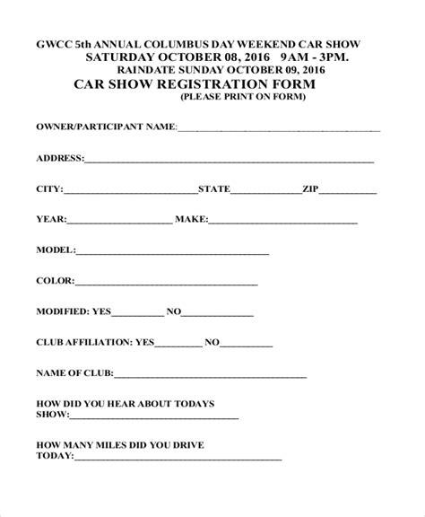 sample registration forms   excel word