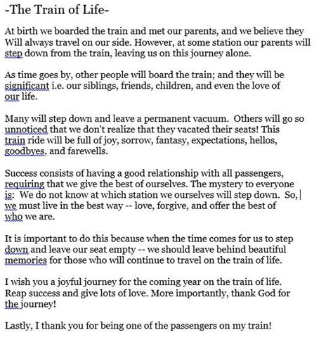 The Train Of Life Quotes