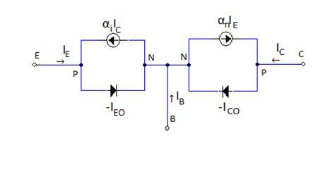 ebers moll transistor model pnp  circuit diagram