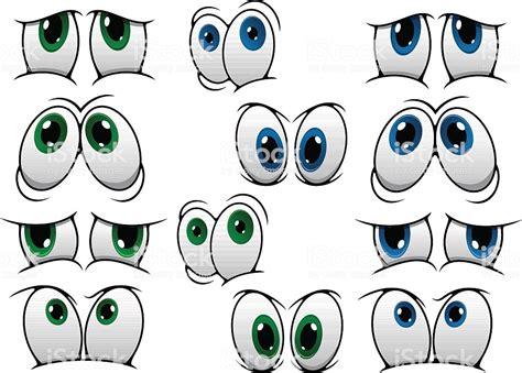 Blue And Green Cartoon Eyes Stock Vector Art 519213077