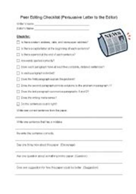 worksheet peer editing checklist persuasive