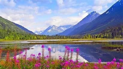 Alaska Spring Wallpapers Kenai Background Mountains Backgrounds