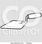 Trowel Clip Mason Tool Outlined Illustration Vector Royalty Background Perera Lal sketch template