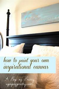 Diy wall decor inspirational canvas a pop of pretty