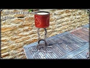 Comment Fabriquer Une Lampe : comment faire une lampe en fer forg youtube ~ Medecine-chirurgie-esthetiques.com Avis de Voitures