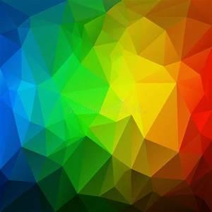 Vector Irregular Polygon Background With A Triangular Pattern In Vertical Rainbow Full Spectrum