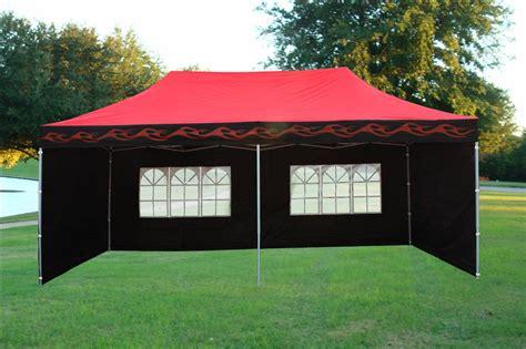 red flame pop  tent canopy gazebo