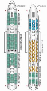 Seat Plan For The Thai Airways A380