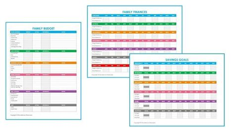 printable family budget worksheets  images