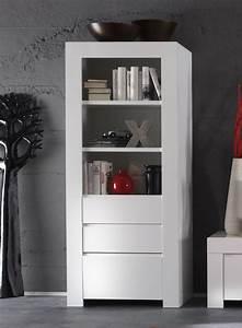 Meuble Bibliothque Blanc Laqu Design PIETRA