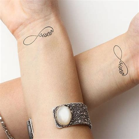 infinity sister family love tattoo
