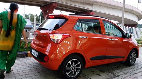 Hyundai Grand I10 4k Wallpapers by Taking Delivery Of Hyundai Grand I10 Orange Exterior