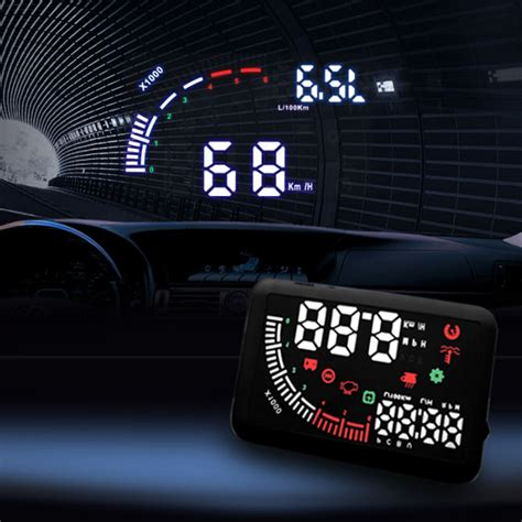 Obd In Car by Echoman Em05 5 5 Quot Car Dual Obd Hud Up Display Obd Ii
