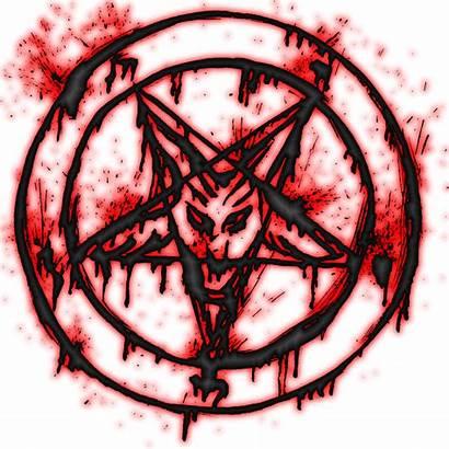 Pentagram Satanic Bloody Transparent Devil Baphomet Clip