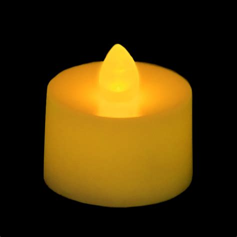 amber led tea lights flickering battery operated tea light candle amber