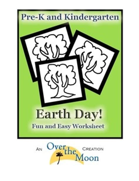 pre k and kindergarten earth day worksheet