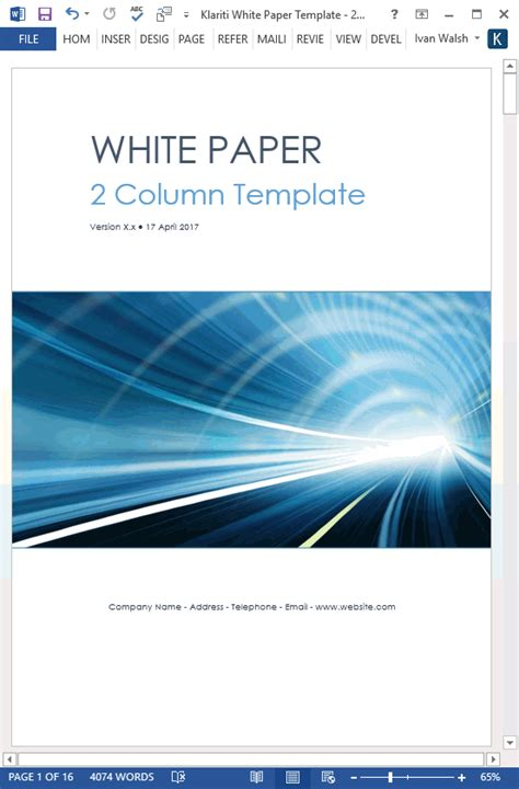 white paper template word white papers ms word templates free tutorials
