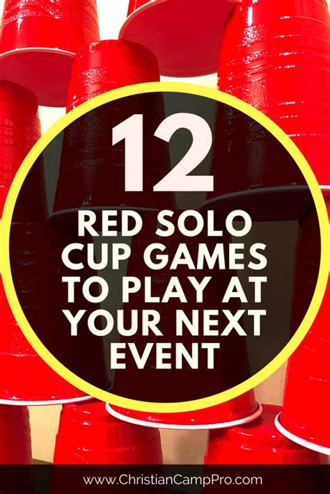 red solo cup games  play    event