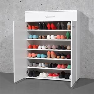 Placard à Chaussures : meuble chaussures 24 paires avec tiroir en bois easy ~ Teatrodelosmanantiales.com Idées de Décoration