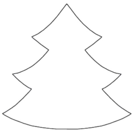 christmas tree cut out template on fabric and cut