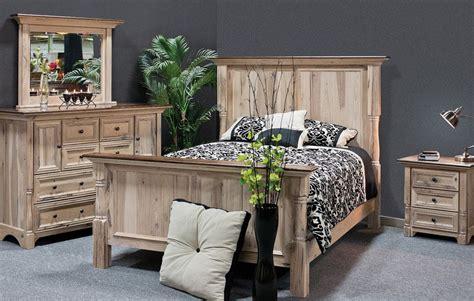 Luxury Amish Bedroom Set 4pc Rustic Palisade Solid Wood