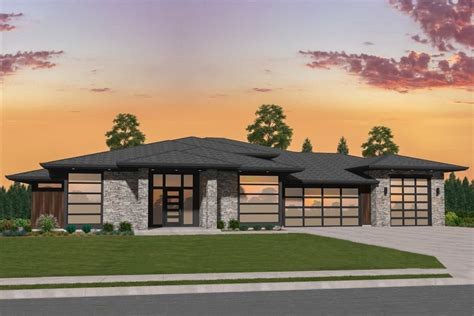 Plan 85274MS: Exclusive Modern House Plan with Side