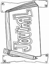 Journal Binder Coloring Covers Writing Notebook Teachers Doodles Binders Clean sketch template