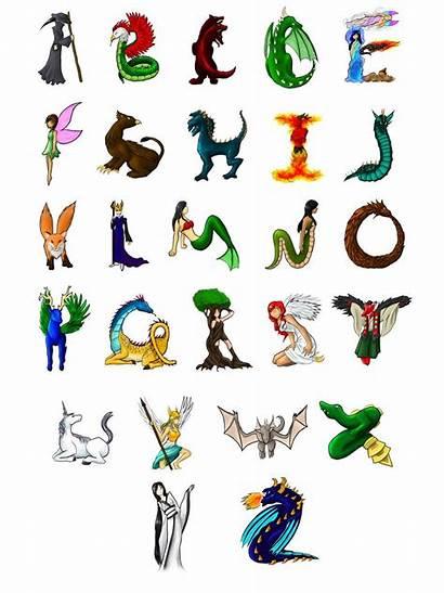 Creatures Creature Mythological Alphabet Mythical Deviantart Fantasy