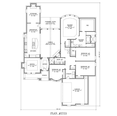home plans one story house plan 2721 web floor plans