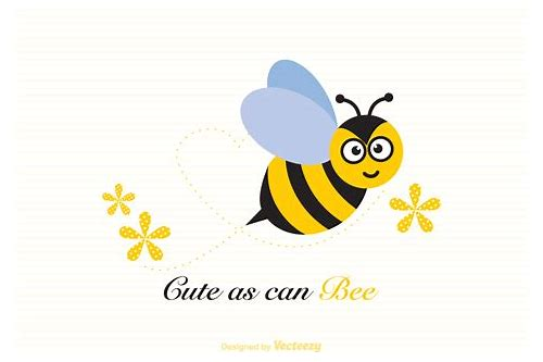free download bee illustration vector