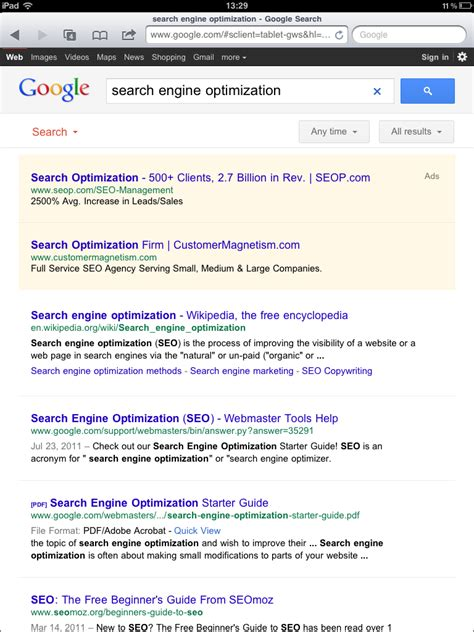 Search Engine Optimization Guide by Guide To S New Tablet Search Distilled